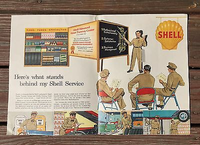 RARE Vintage 1940's SHELL Lubrication Gas Service Station 3D Display Sign