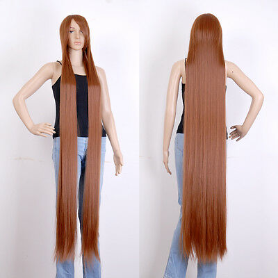 """Mixed Brown Extra Long Cosplay Wig Cosplay Party Costume Anime Hair 60 """"/150cm"""