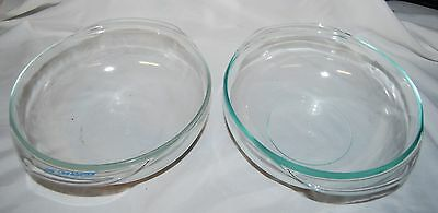 Vintage Pyrex Clear Glass Round Bowl Casserole 024 20 Set of 2