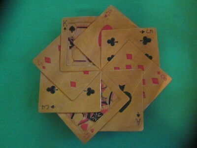 """Vintage Wooden """"Playing Cards"""" Plate - Very Unique"""