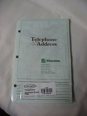 Wilson Jones Telephone Address Book - Refill Pages - 812 - 812R