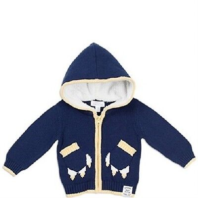 Pumpkin Patch Baby Boy Blue Paw Pocket Cardigan Sizes 0-3m & 3-6m Jacket BNWT