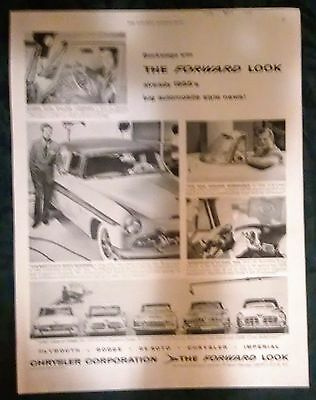 CHRYSLER AD - FROM SATURDAY EVENING POST 1950's