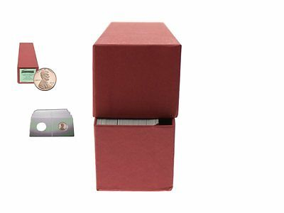 """Guardhouse Red/Cent Coin Box with 100 flips, 2"""" x 2"""" x 8.5"""""""