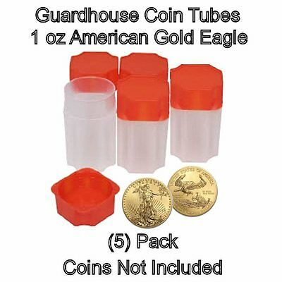 American Gold Eagle 1oz, Square Coin Tubes by Guardhouse 10 pk
