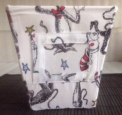 """Trend Labs ~ Dr Seuss """" Cat In The Hat"""" Small 6"""" High White Storage Box"""