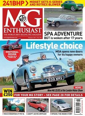 MG ENTHUSIAST MAGAZINE Summer 2017 (BRAND NEW BACK ISSUE)