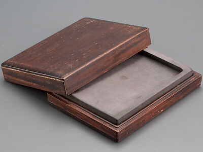 Calligraphy Tool Chinese Duan Inkstone with Hardwood Case: BC620