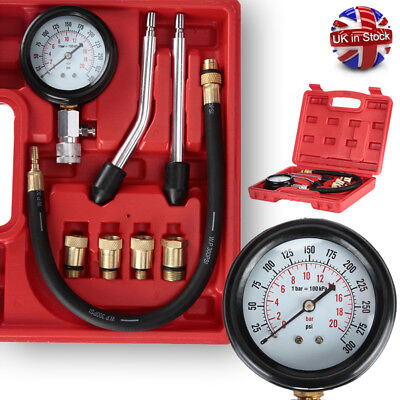Pro Petrol Engine Compression Valve Tester Timing Cylinder Leakage Test Tool UK