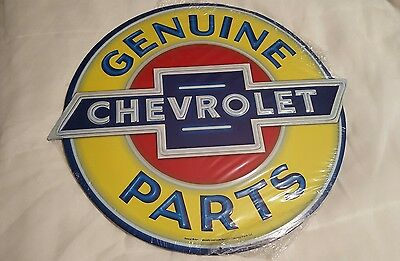 "Brand New Chevrolet Genuine Parts 19""x17"" Metal Sign Garage Corvette"