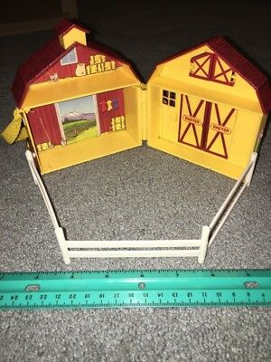 Vintage Breyer Pocket Barn Stable Yellow Fence Portable Playset