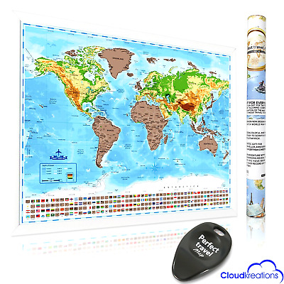 travellers large scratch off world map travel vacation holiday poster wall paper eur 8 95. Black Bedroom Furniture Sets. Home Design Ideas