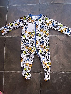 BNWT Baby Boy's Mickey Mouse Cotton Knit Coverall/Romper Size 0