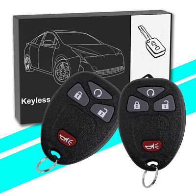 2 New Replacement Remote Start Keyless Entry Key Fob Control for 15913421 US
