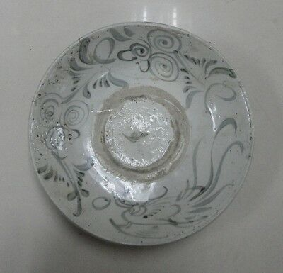 Ming/Qing Dynasty - Large plate - Phoenix motif -  with restoration