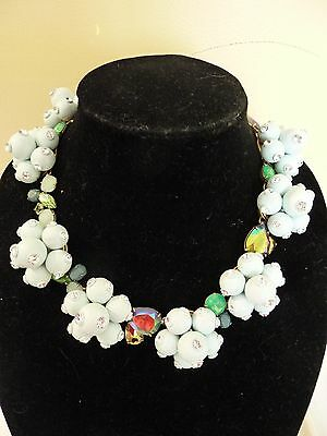NWT J.CREW AUTHENTIC  JEWELED NECKLACE POP CRYSTAL FROSTED MINT, e3526, $158