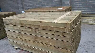 Timber Sleepers - 2400 x 200 x 100mm - Pressure Treated - SALE - LARGE STOCK