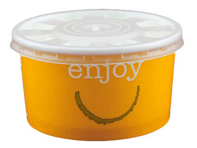 250 Foodcontainer Food Container Papiercontainer mit Deckel 200 ml (DP90-209)