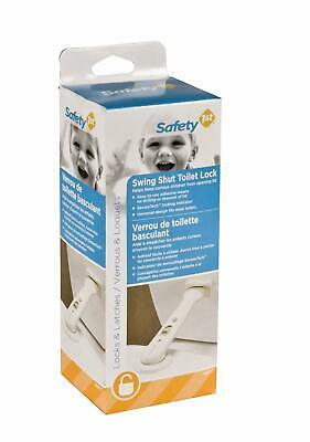 Safety 1st First Swing Shut Toilet Lock Sanitary Design White Latch Toddler Baby