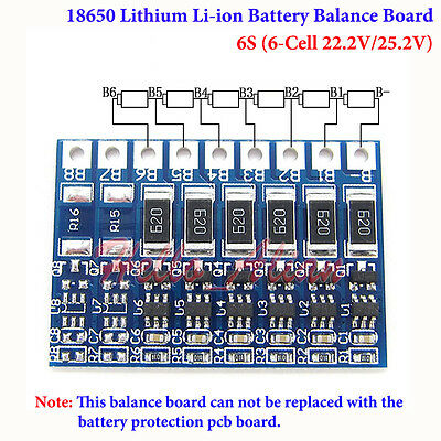 6S 6 Cell 22.2V 25.2V 18650 Li-ion Lithium Battery Charger Module Balance Board