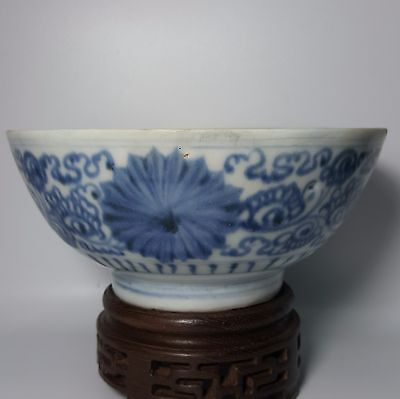 Ming Dynasty - Blue and White Bowl Porcelain (River Found)