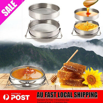Double Sieve Honey Strainer Filter Stainless Steel Apiary Equipment Beekeeping S
