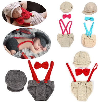 Newborn Baby Girls Boy Crochet Knit Costume Photography Photo Prop Infant Outfit