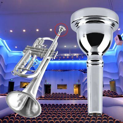 Trumpet Mouthpiece Musical Instruments Silver Plated Brass 3C/5C/7C New Gold UK