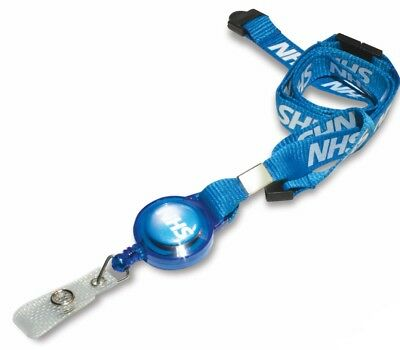 NHS Printed Retractable Lanyard, Extending Neck Strap, Door Pass ID Card Holder