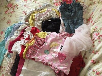 Large Bundle Of Baby Girls Clothes Age 18-24 Months