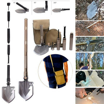 6 in1 Utility Ordnance Folding Camping Shovel Outdoor Self-defense Survival Tool
