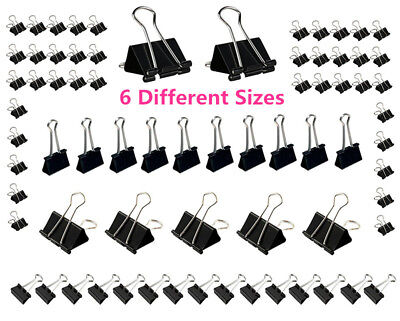 Quality Foldback Clips Removable Filing Bulldog Style Fold Back Grip Clips Lot