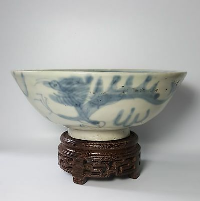 Ming Swatow Blue and White Bowl - Double Dragons (River Found)
