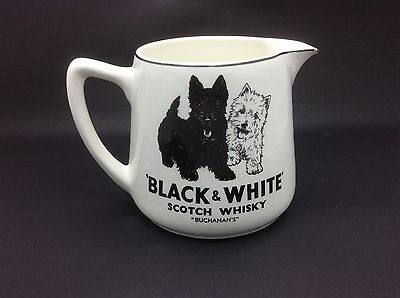 Black & White Scotch Whisky Ceramic Advertising Jug