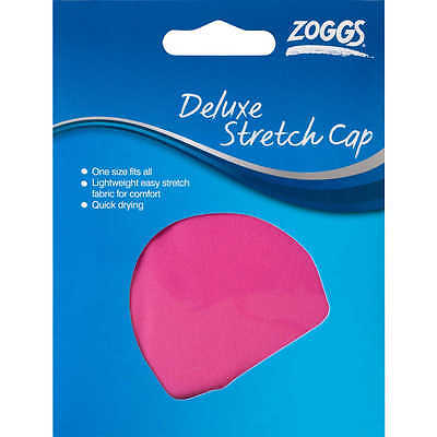 Zoggs DELUXE SWIMMING STRETCH CAP Synthetic Fabric Quick Drying, 1-Size Fits All