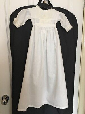 Pure Cotton White Baby Christening Gown