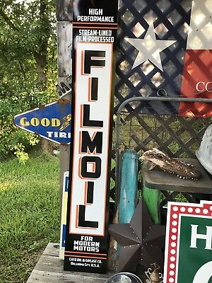 Antique Vintage Old Style Filmoil Sign 70x11 Texaco