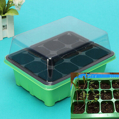 12 Cells Set Hole Plant Seeds Grow Box Tray Insert Propagation Seeding Case Box