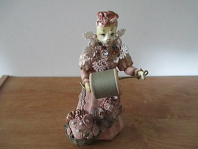 Vintage Katherine's Collection Cat Pin Cushion Doll