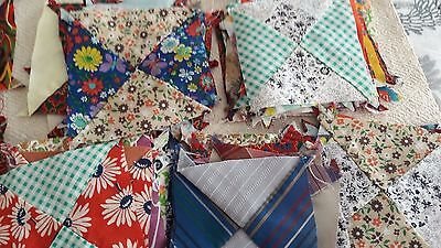 97 Vintage Quilt Squares 4 inch Hand Sewn