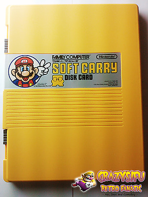 NEW Official Nintendo Family Computer Soft Carry Disk Card Case