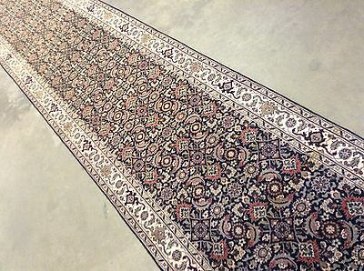 "3x14 Excellent Super Herati Wool Rug Long Runner Persian Oriental 2'8"" X 13'10"""
