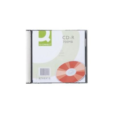 Q-Connect CD-R 700MB/80minutes in Slim Jewel Case (Pack of 10) KF00419 [KF00419]