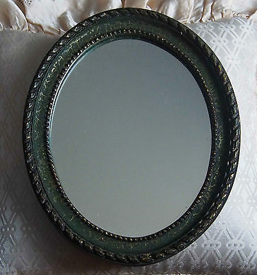 Ancien Petit Miroir Ovale Vintage Made In France
