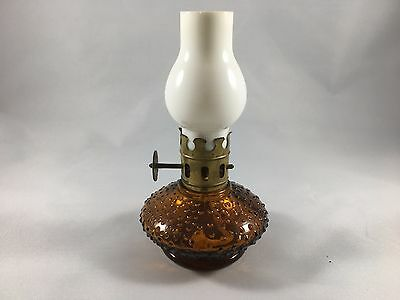 Vintage Peacock mini oil lamp