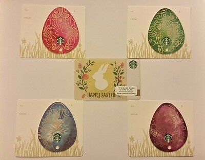 STARBUCKS 2015 Easter Egg Collection GIFT CARD (Lot of 5) NO VALUE - BRAND NEW