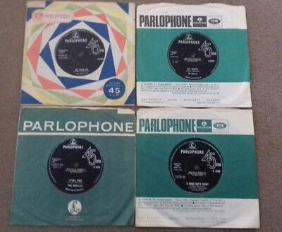 Lot Of 4 Records By The Beatles - Uk Parlophone