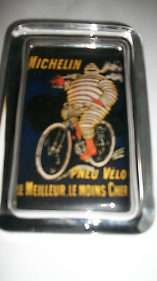 Michelin Tire Man Cigar Smoking Advertising Sign Logo Glass Paperweight