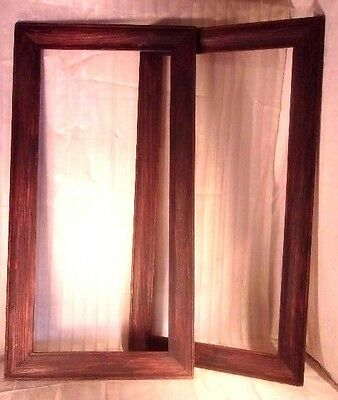 PAIR of large antique OAK arts and crafts frames 41 3/4 x 21 3/4 holds 36x161/4