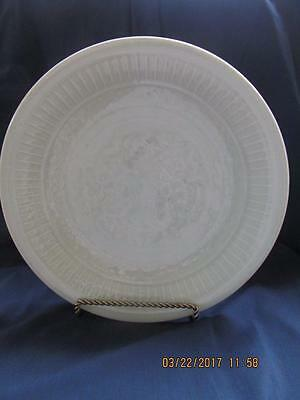"""12"""" Vintage Antique Chinese Celadon Charger Plate Signed Ming/Qianlong Interest"""